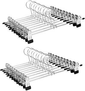 Metal Clip Pant Hangers Cloth Closet Pant Trouser Skirt Non-slip Adjustable Rack