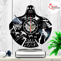STAR WARS Darth Vader Yoda Vinyl Record Wall Clock Kids Birthday Best Gift Decor