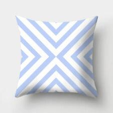 18'' Polyester Blue Pillow Case Throw Cushion Cover Waist Sofa Home Decor