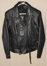 Vtg Women's Leather Motorcycle Jacket Bikers Dream Apparel Thinsulate Liner Medi