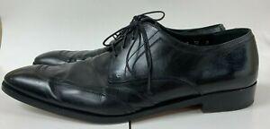 Salvatore Ferragamo Men's Black Leather Oxford Dress Shoes Size 12