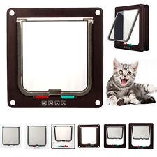 Pet door 4 way locking Small Medium Large Dog Cat Flap Magnetic White Frame