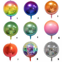22inch Balloon Gradient Color 4D Disco Photo Props Birthday Party Wedding Decor