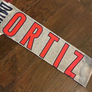 FOREVER COLLECTIBLES MLB DAVID ORTIZ FINAL SEASON SCARF Boston Red Sox Big Papi