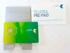 Telstra PrePaid SIM Card Standard Size SIM with $30 Credit For Calls and SMS NEW