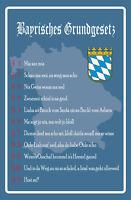 Bayrisches Grundgesetz Blechschild Schild gewölbt Tin Sign 20 x 30 cm FA0965