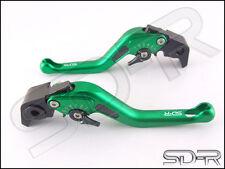 2004 - 2005 Triumph DAYTONA 600 / 650 Carbon Fiber inlay Short SDR Levers Green