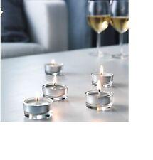 30 IKEA Tealight Candles Spicy scent of nutmeg, cinnamon & vanilla Grey Candle