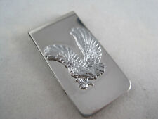 Money Clip - Embossed Flying American Eagle Silver Tone