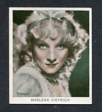 1934 Marlene Dietrich Bergmann Color Movie Picture Cigarette Tobacco Card #24