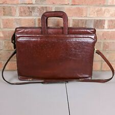 Giorgio Bernini Leather Portfolio Business Messenger Bag Attache Brown