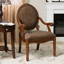 Floral Print Accent Arm Chair Living Room Furniture Classic Armchair Oval Decor