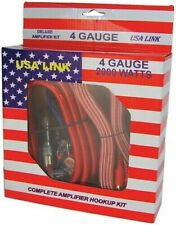 Qpower 4Gauge Usa Link *Usa Link* 4G. Amp Wiring Kit W/Rca Cables Fast Shipping