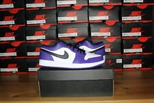 Nike Air Jordan 1 Low Court Purple White- SIze 13 - 553558-500- Brand New