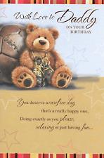 WITH LOVE DADDY BIRTHDAY CARD** VINTAGE TEDDY BEAR 1ST CLASS POST 9 X 6 INCH(Y5)