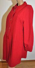 Manteau en laine bouillie TBE marque Freda 100% pure laine