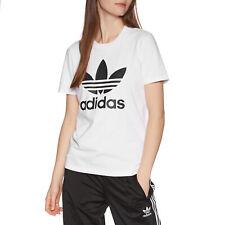 Adidas Originals Trefoil Womens T-shirt - White All Sizes