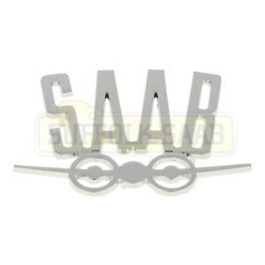 SAAB 96 95 V4 CHROME REAR BOOT BADGE EMBLEM CLASSIC CAR VINTAGE ZINC ALLOY