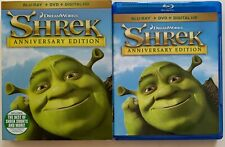 Dreamworks Shrek Blu Ray Dvd 2 Disc Set + Slipcover Sleeve Anniversary Edition