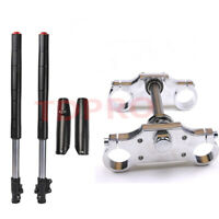 Upside Down Front Fork Suspension Triple Tree clamp Dirt PitBike 110cc 125cc 150