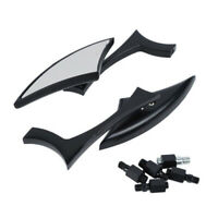 Motorcycle Black Spear Blade Rearview Mirrors for Harley Sportster Dyna Softail