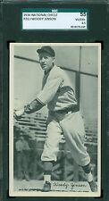 1936 National Chicle R313 Card - Woody Jenson - Pittsburgh Pirates - SGC 55
