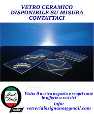 vetro ceramico per stufa pellet 25,5 cm x 34 cm preventivo gratuito su misura