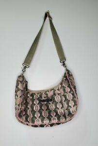 Petunia Pickle Bottom Touring Tote Diaper Bag Crossbody Metallic Pink Gray