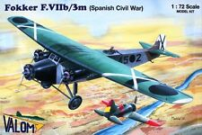 FOKKER F VII b/3M SPANISH CIVIL WAR (NATIONALIST & REPUBLICAN MKGS) 1/72 VALOM