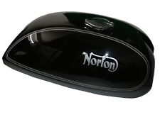 Norton Commando Petrol Tank + Cap  Black Silver Lining  750 850 Interstate CAD