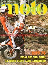 MOTO VERTE  55 Essai BPS 320 TL Trial FOURNALES Ile la Réunion ISDT Salon 1978