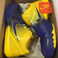 New Ds Nike Zoom Kobe IV 4 Rings 11 Purple Yellow Championship Stage 344335-400