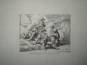B.PINELLI (1781-1835) GRAVURE VOYAGE ROME ROMA CONTREBANDE ITALIE ITALIA 1820 ae