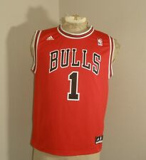 Youth Boys Kids ADIDAS Chicago BULLS Derrick ROSE #1 Red Jersey Large