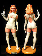 Sexy Space Suit Girl with Science Pistol 1/6 Unpainted Figure Model Resin Kit