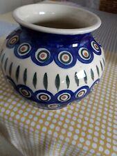 Bunzlauer Keramik Blumentopf / Vase Kugelvase WIZA - Muster 8 - NEU