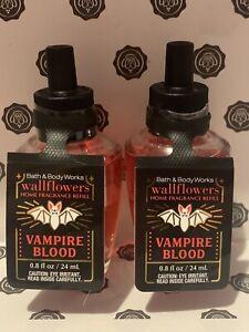 2 NEW W/tags Bath & Body Works Vampire Blood Wallflowers Refill Bulb Full Size