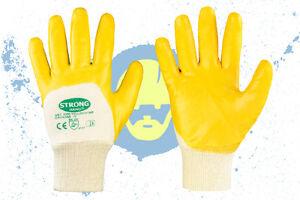 12 Paar Nitril Handschuhe Arbeitshandschuhe Schutzhandschuhe Gelb Montage Gr6-11