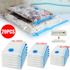 20PCS Vacuum Storage Space Saver Bags Saving Seal Clothing Compressed Organizer