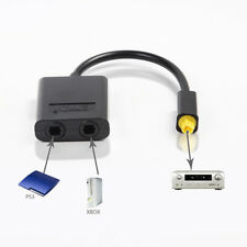 Best Digital Optical Cable Audio Splitter Adapter 1 to 2 For CD/DVD PS3 X-Box360