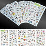 Scrapbooking Cute Cat Album Diary 6 Sheets Portable Calendar Sticker Label Craft