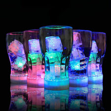 Flashing LED Light Up Ice Cubes 12x Multi Color LED Rocks For Romantic Party