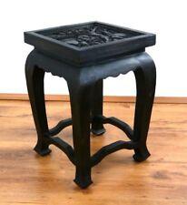 Opiumtisch, schwarz, 36x36x50cm, Nachttisch, Beistelltisch, Holztisch,Couchtisch