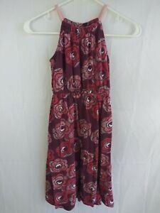 Gymboree Girls Dress Size 8 Floral Long Sleeveless Comfy