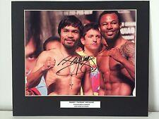 RARE Manny Pacquiao Boxing Signed Photo Display + COA AUTOGRAPH PACMAN