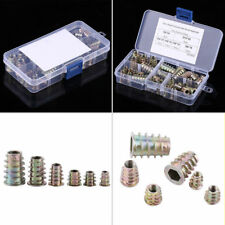 50x M4/M5/M6/M8/M10 Zinc Alloy Hex Socket Screw-in Threaded Insert Nuts Kits yfq
