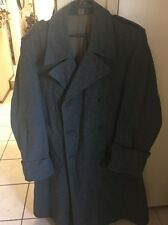 Vintage SWISS ARMY Military Long Trench Medical Coat Wool Men's 48N BE 65