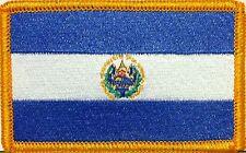 EL SALVADOR Flag Patch W/ VELCRO® Brand Fastener Military Tactical Gold Emblem