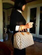 Authentic Louis Vuitton Speedy Damier Azur 25 Satchel Handbag