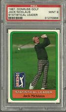 New listing 1981 Donruss Golf Jack Nicklaus PSA 9 Statistical Leader MINT Short Printed